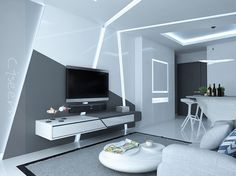 Futuristic Theme Interior Design by Ciseern - Interior Designer Singapore. #homedesign #interior #design #livingroom #singapore #hdb