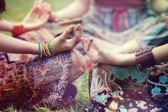 Gyana Mudra - gesture of consciousness and knowledge.  Invites meditation, calmness, new awareness and knowledge. Om Shanti - Peace.