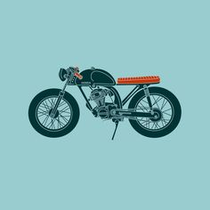 "motomood: ""do you fancy a Honda CB125 cafe racer sticker? available at redbubble BUY NOW "" Black Friday on redbubble use promo code gift-motomood"