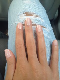 The Perfect Nude Nails: Essie Topless and Barefoot followed by a coat of Essie Sugar Daddy.