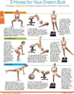 butt workouts; wish I could read it better Butt workout - perfect body http://bestfitnessbody.blogspot.com
