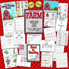 111 Page Farm unit for Pre-K/Kinder  Sight words, word families, memory, size sorting, sentences, patterns, counting and more!