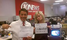 @BobbyDWeather & @AllisonKropff during the morning show Twitter off Morning Show, 10 News, Tampa Bay, Behind The Scenes, Twitter