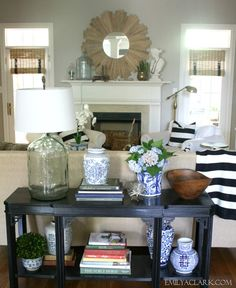Styling A New (To Me) Console Table - Emily A. Clark