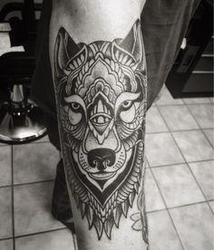 mandala wolf tattoo ideen