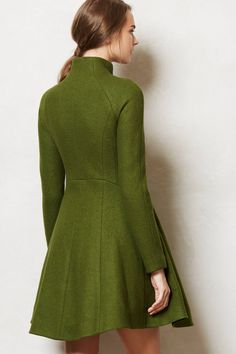 heaven is a stylish green coat - from Anthro Tailored Coat, Blazer, Mode Inspiration, Coats For Women, Ideias Fashion, Winter Fashion, Dress Up, Pullover, Stylish