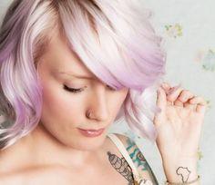 White Blonde and Lavender. Pretty.