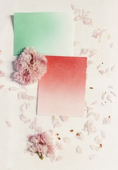 DIY Ombre Stationery