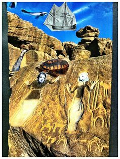 Great detailed lesson plan for surreal collage! Love this