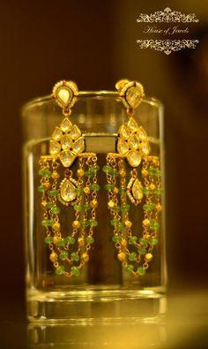Portfolio of House Of Jewels Jewelry Design Earrings, Gold Earrings Designs, Gold Jewellery Design, Ear Jewelry, Bead Jewellery, Trendy Jewelry, Beaded Jewelry, Gold Jewelry, Silver Earrings