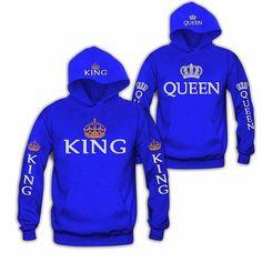 Blue King & Queen Hoodies – CouplesChoices