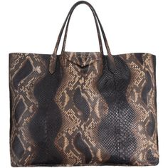 Givenchy - Python Antigona Tote found on Polyvore