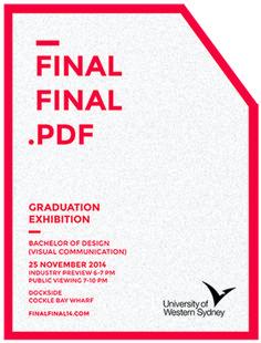 FINALFINAL.PDF - 2014 UWS Graduation Exhibition