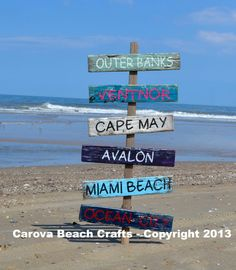 Beach Decor - Beach Sign - Custom Colors - Wedding Signs - Personalized - Arrow - Directional - Outdoor Pallet Wood
