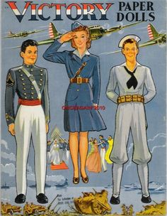 eBay Image Hosting at www.auctiva.com Paper Dolls Printable, Paper Houses, Vintage Paper Dolls, Yesterday And Today, Vintage Cards, Doll Patterns, Beautiful Dolls, Doll Toys, Wwii