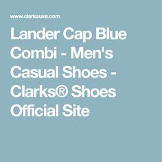 Lander Cap Blue Combi - Men's Casual Shoes - Clarks® Shoes Official Site