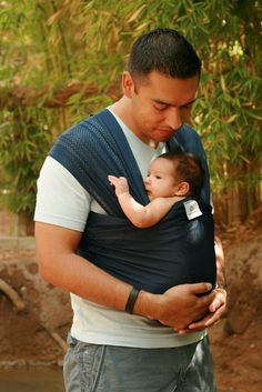 Beachfront Baby Wrap Carrier- water babywearing at the beach, pool, water park or in the shower- NAVY BLUE on Etsy, $39.99