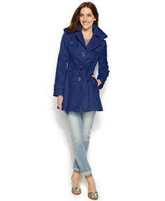 Via Spiga Hooded A-Line Trench Coat - Coats - Women - Macy's
