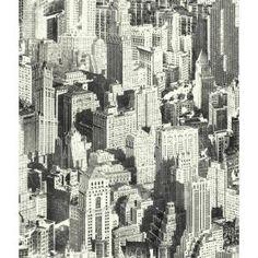 York Wallcoverings Urban Chic Big Apple x Figural Roll Wallpaper Colour: Cream/Beige/Brown Wallpaper Color, Chic Wallpaper, Embossed Wallpaper, Modern Wallpaper, Apple Wallpaper, Peel And Stick Wallpaper, Designer Wallpaper, Windows Wallpaper, Brown Wallpaper