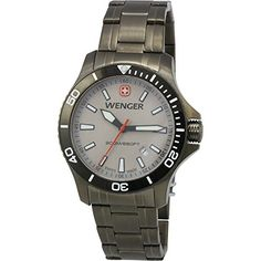 #armywatches #Chronographwatch #wengerwatches Wenger Swiss Army Sea Force Grey Dial Gunmetal Men's Watch 01.0641.115 Check https://www.carrywatches.com