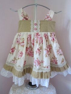 Toddler Girls Country Rose Shabby Chic Rose by TwoFrillyFreckles, $23.50