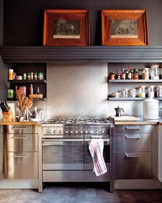 stainless steel and wood decor modern dream kitchen design