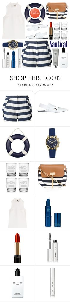 """""""Nautical"""" by barbarela11 ❤ liked on Polyvore featuring O'2nd, Atmos&Here, GUESS, Call it SPRING, MSGM, Lipstick Queen, Lancôme, Bobbi Brown Cosmetics and Paul Frank"""