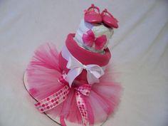 Ballerina Diaper Cake