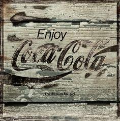 American Vintage Coke Cola Poster | Coca Cola Grunge Sign Photograph