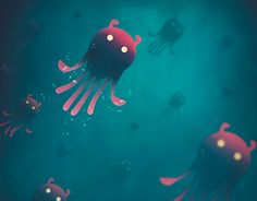 """Check out new work on my @Behance portfolio: """"Sea Monsters - Into the Monsters Forest"""" http://be.net/gallery/41115199/Sea-Monsters-Into-the-Monsters-Forest"""