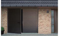 10 idées de portes de garages moderne...Porte battante Duoport, design nervures (crédit photo Novoferm) Garage Doors, Sweet Home, Outdoor Decor, Design, Projects, Blog, Home Decor, Garage, Modern Garage Doors