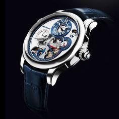 Montblanc  Wonder how many hours of labour it took to make this masterpiece  ____________________________  #Montblanc #horology #watchaddict #timepiece #wristwach #zeitwerk #luxury #luxurywatch #watchfam #watch