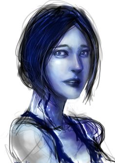 Cortana by ~tekkoontan on deviantART.  The Halo 4 ending was so sad. T-T