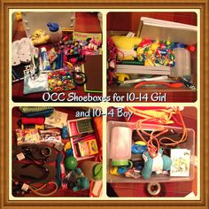 Occ shoebox for girl and boy! Just 2 of the 7 packed for Christmas Child Shoebox Ideas, Operation Christmas Child Shoebox, Christmas Boxes, Christmas Shows, Christmas Gifts For Kids, Gifts For Boys, Christmas Ideas, Xmas, Packing Boxes