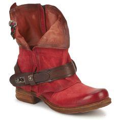 Bota baja Air Step SAINT BIKE Rojo - Entrega gratuita con Spartoo.es ! - Zapatos Mujer 199,00 €