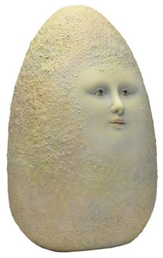 SERGIO BUSTAMANTE ARTIST PROOF CERAMIC EGG FACE