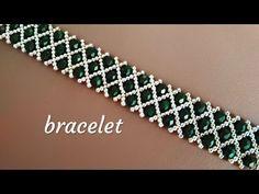 Браслет из бисера и бусин. - Perlenarbeiten - # b Beaded Bracelets Tutorial, Beaded Bracelet Patterns, Bracelet Designs, Handmade Bracelets, Handmade Jewelry, Diy Jewelry, Jewelry Making, Embroidery Bracelets, Handmade Wire