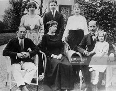 Family of GREECE. from left to right, Crown Prince George (later King George II) of Greece (1890 - 1947) Princess Helen of Greece (1896 - 1982) later Queen Mother of Romania Prince Paul (later King Paul) of Greece (1901 - 1964) Queen Sophie of the Hellenes (1870 -1932) Princess Irene of Greece (later Duchess of Aosta) (1904 - 1974) KIng Constantine I of Greece (1868 - 1923) Princess Katherine of Greece (1913 - 2007) later Lady Brandram.