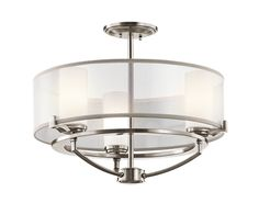 Semi Flush/Chandelier 3Lt CLP - Kichler Lighting - pendant, ceiling, landscape light fixtures & more