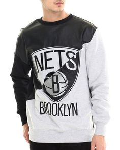 Love this Brooklyn Nets Faux leather Panel applique Sweat... on DrJays and only for $78. Take 20% off your next DrJays purchase (EXCLUSIONS APPLY). Click on the image above to get your discount.
