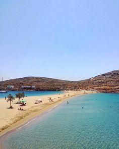 The perfect Kolona beach in Kythnos island, Greece