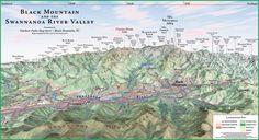 Black Mountain Panorama map - Balck Mountain NC • mappery