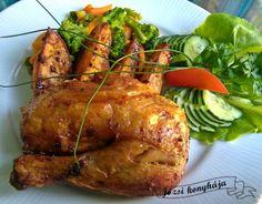 Fűszeres sült csirke egészben sütve Poultry, Turkey, Meat, Food, Backyard Chickens, Turkey Country, Eten, Meals, Diet