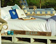 diy outdoor pallet bed