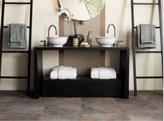 Renovation Ideas: Make your bathroom into the perfect hideaway for those days you come home just too tired to move. Adding tile flooring adds a touch of luxury, too. More: http://www.flooringamerica-stores.com/