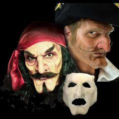 Captain Hook Pirate Prosthetic Mask