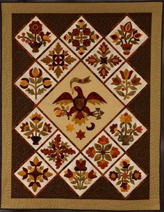 http://www.road2ca.com/2015winners/images/11757.jpg Winner of $750.00 for 2nd Place: Traditional, Wall, Applique Sponsored by The Quilt House, Inc.  Entered by Janis Pearson (San Juan Capistrano, CA) Made by Janis Pearson Quilted by Gail Rowland from Spring, TX Started in 2011, Finished in 2014 Design basis: Traditional Pattern wool applique