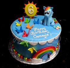 rainbowdash cake, bani bakery, cake for girl