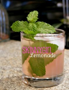 Skinnygirl Lemonade recipe uses Skinnygirl Cucumber vodka, raspberry lemonade, lime and mint. So'Yum!