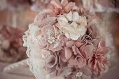 Handmade Vintage Fabric Flower and Brooch by VintageLacyCharm, $150.00